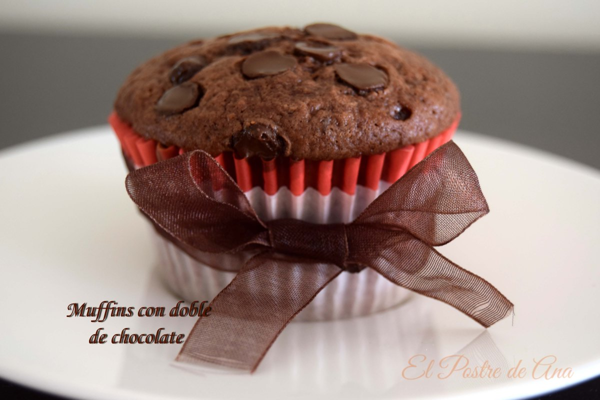 Muffins con doble de chocolate
