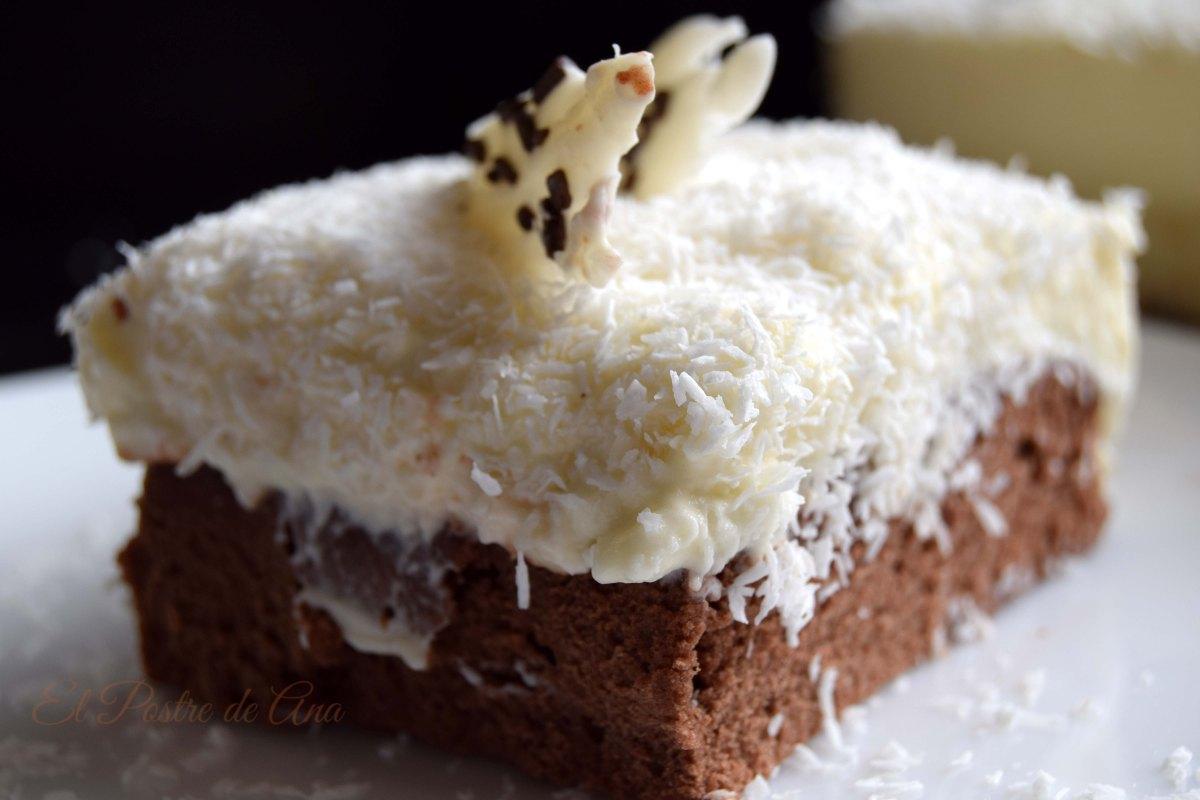 Tarta de chocolate blanco, concoco
