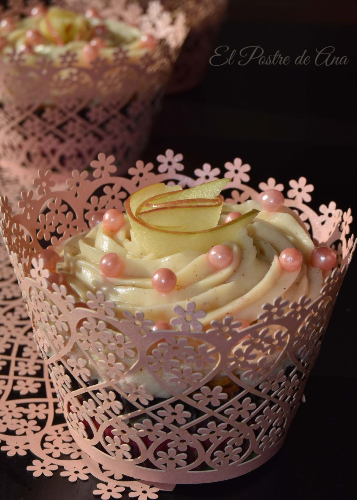 Cupcakes de manzana ycanela