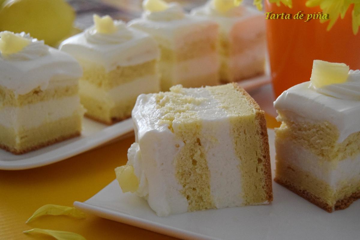 Tarta de piña con crema demascarpone