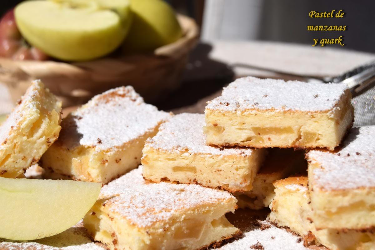 Pastel de manzana yquark