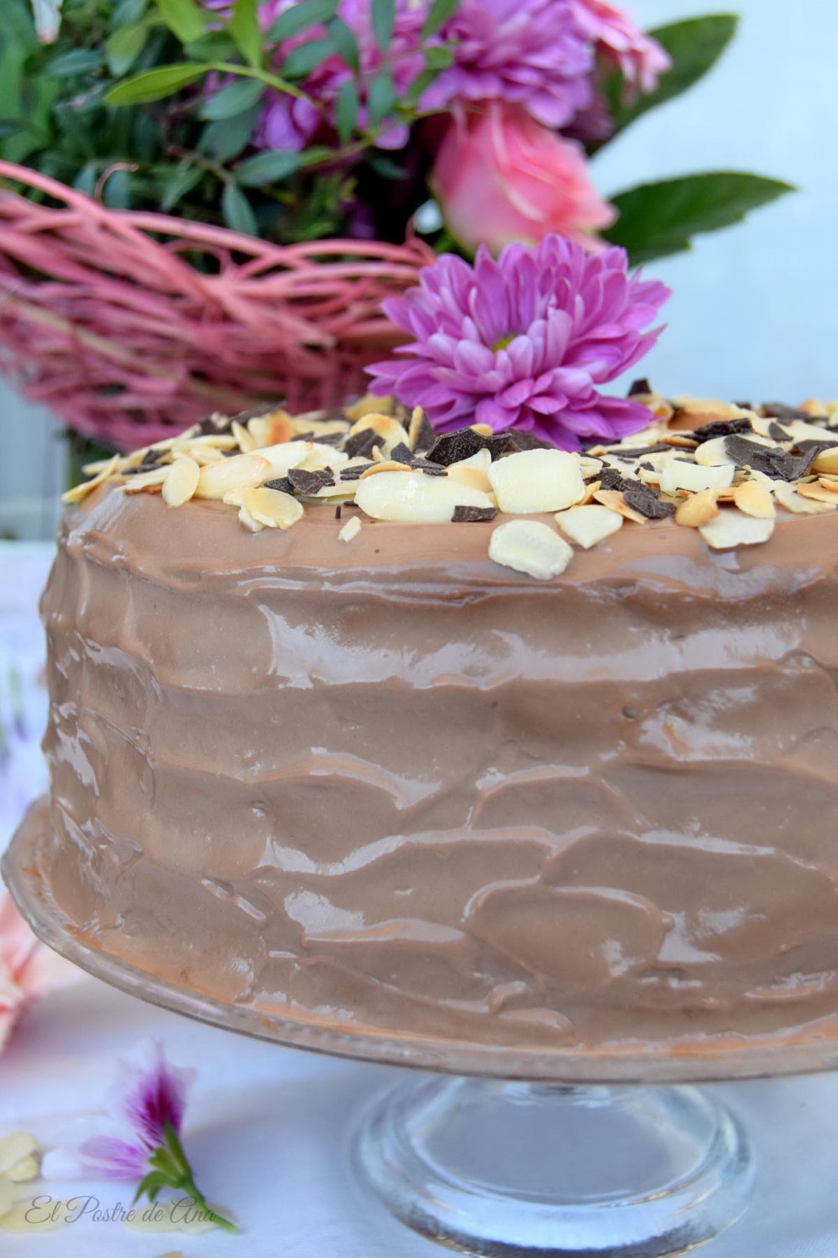 Tarta de caramelo con nueces ychocolate