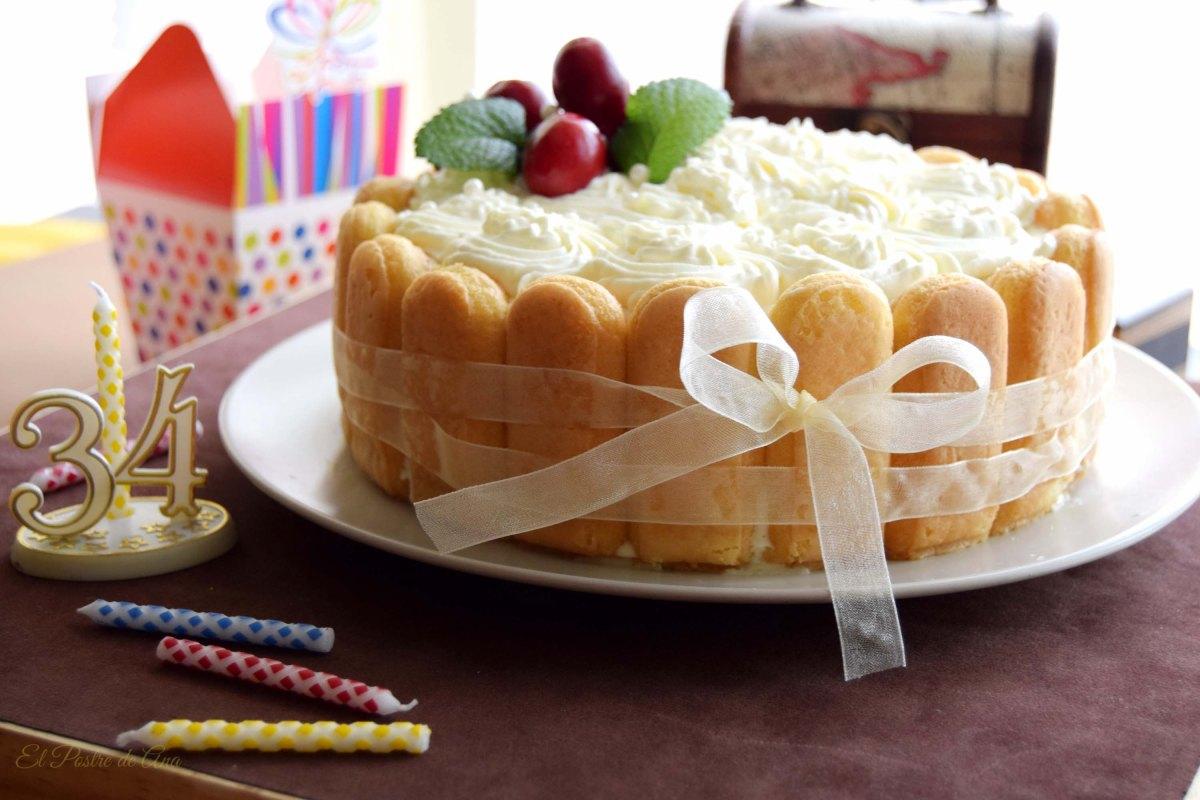 Tarta mousse de crema pastelera confruta