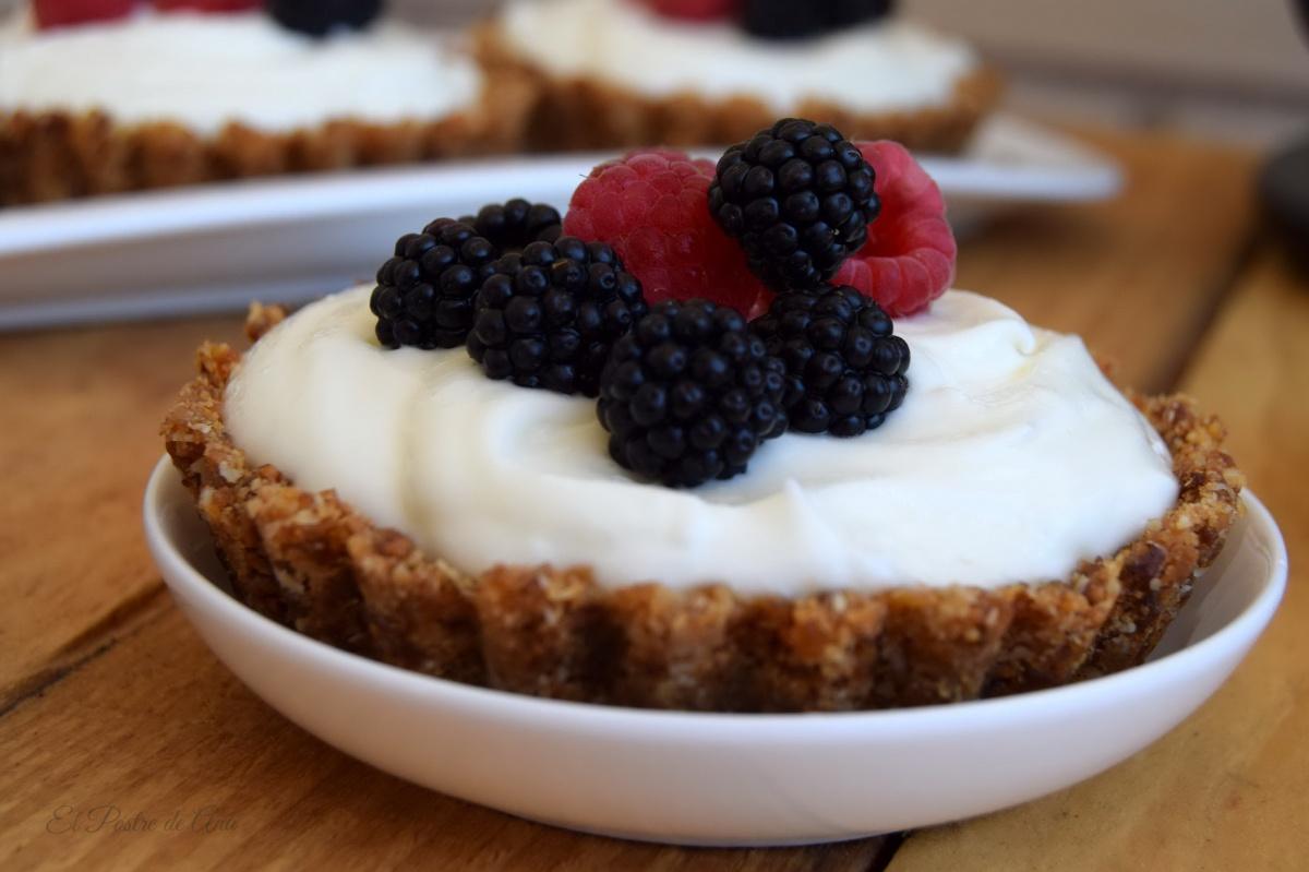 Cheesecakes con higos ybayas