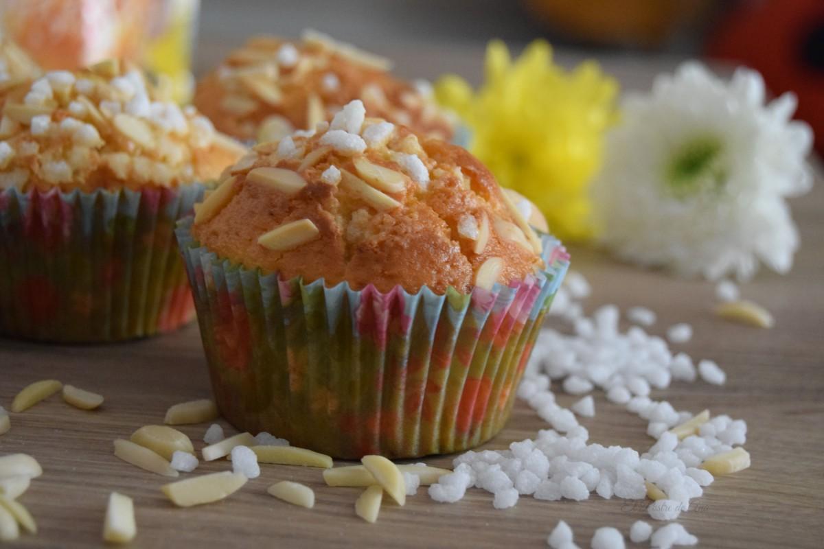 Muffins de yogurt yalmendra